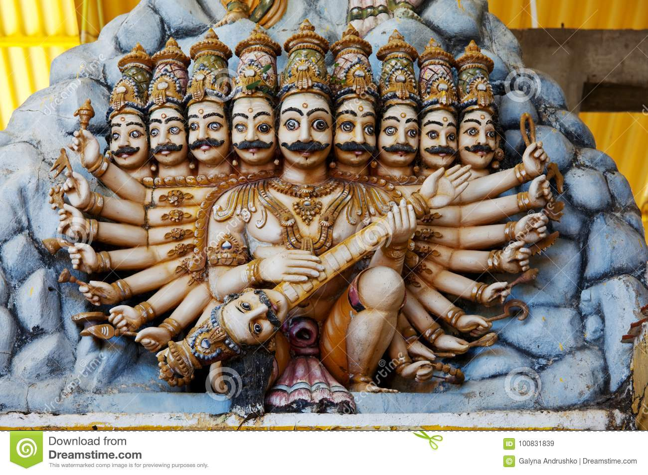 Statue on Sri Lanka stock image. Image of tower, statue - 100831839